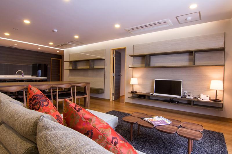 Koharu Resort Hotel & Suites Living and Dining Area with TV | Upper Wadano