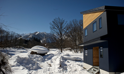Wagaya Chalet Outdoor Area with Snow | Happo Village