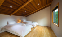 Wagaya Chalet Twin Bedroom with Wooden Floor | Happo Village