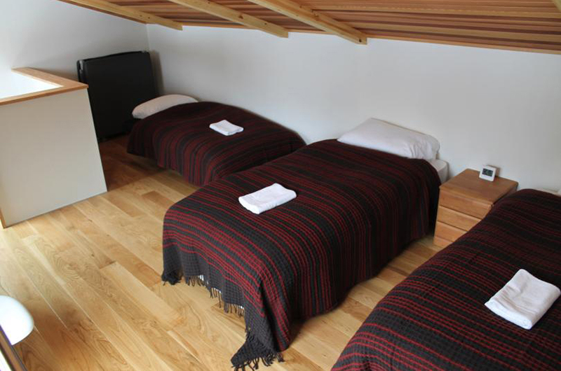 Wagaya Chalet Bedroom with Triple Beds | Happo Village