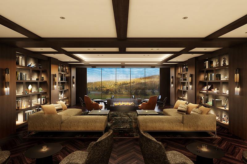 Yu Kiroro Living Area with Fireplace | Kiroro