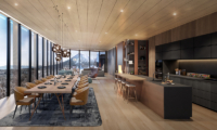 Intuition Niseko Kitchen and Dining Area with Mountain View | West Hirafu