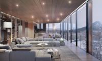 Intuition Niseko Indoor Living Area with Mountain View | West Hirafu