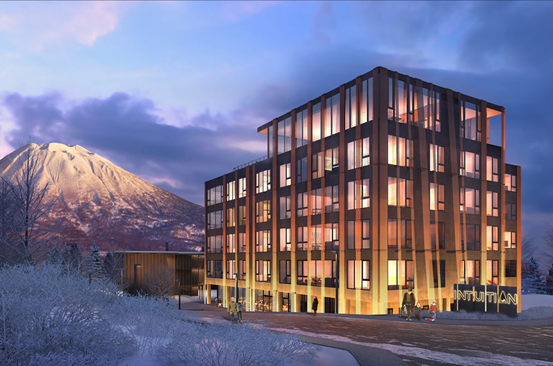 Intuition Niseko Outdoor Area with Mountain View | West Hirafu