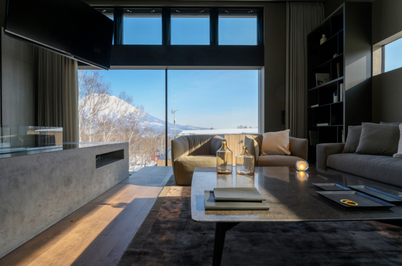 Odile Lounge Area with Mountain View | West Hirafu