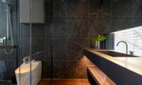 Odile Bathroom with Wooden Floor | West Hirafu