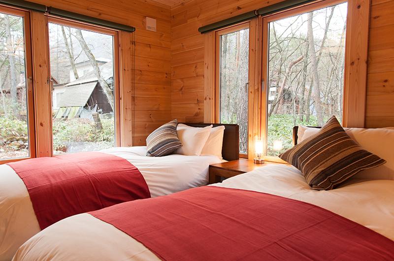 Villa Antelope Hakuba Twin Bedroom with View | Echoland