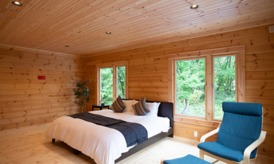 Villa Antelope Hakuba II Bedroom with Wooden Floor | Echoland