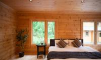Villa Antelope Hakuba II Bedroom with Wooden Floor and View | Echoland